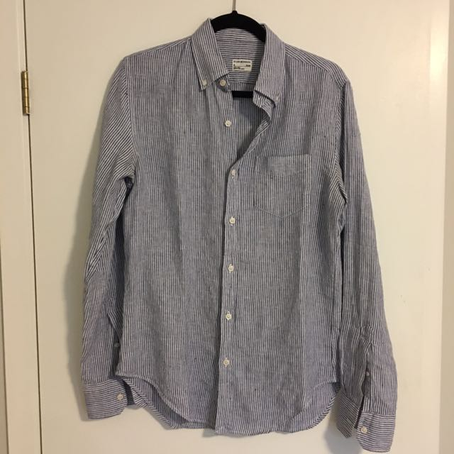 Linen Dress Shirt - Small (Slim Fit)