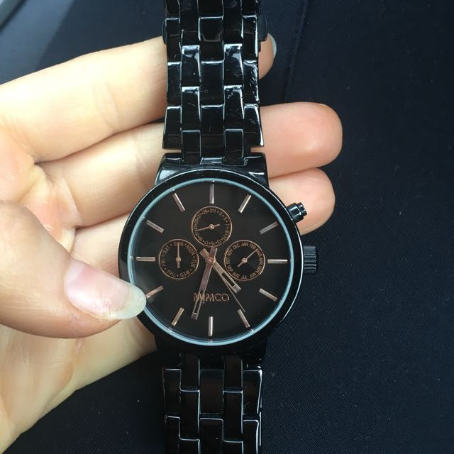 MIMCO Sportivo Black & Rose Gold Watch