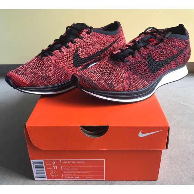 4c790917bf50 NIKE Flyknit Racer FIRE ROOSTER University Red