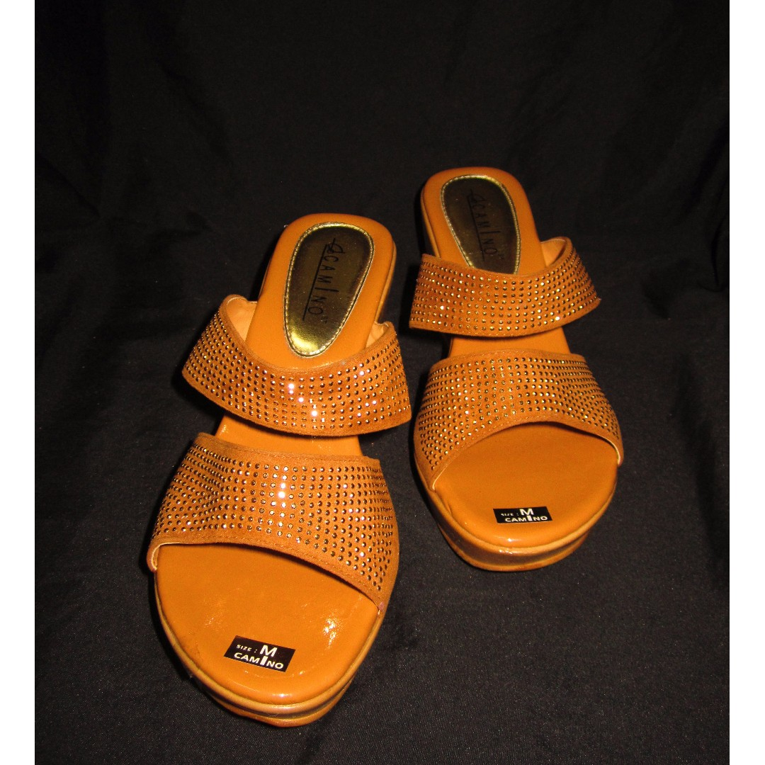 NWOB Studded Two-Strap Wedge