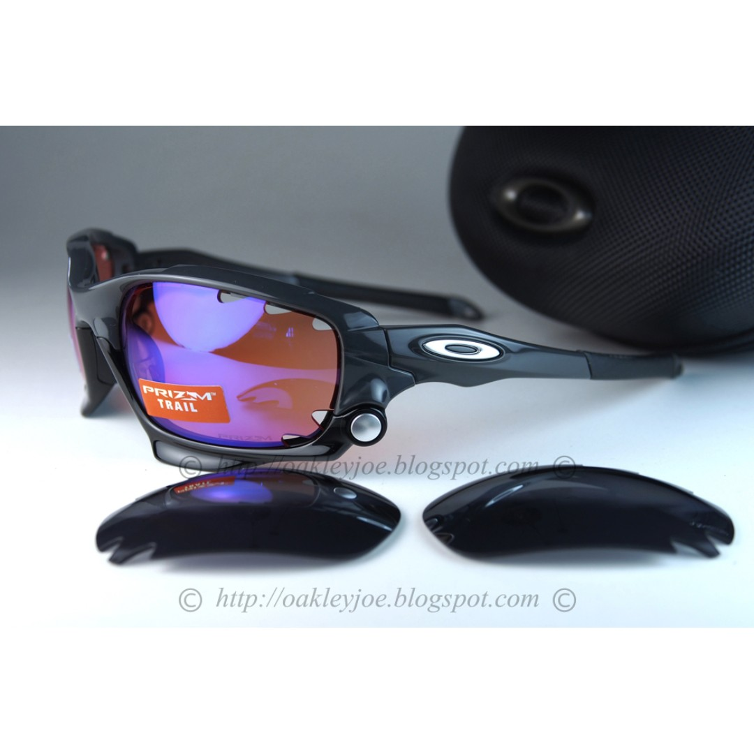260e1a311fb7 ... hot oakley racing jacket carbon prizm trail iridium oo9171 3862 sports  sports apparel on carousell 1433c