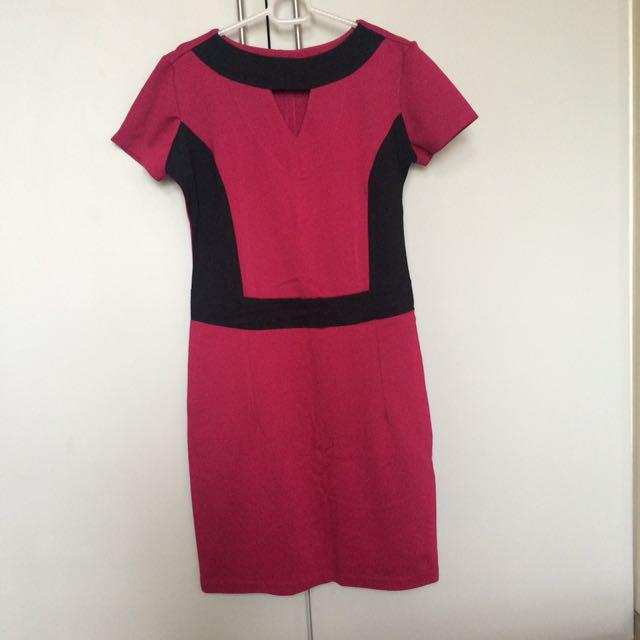 Pink Office Dress