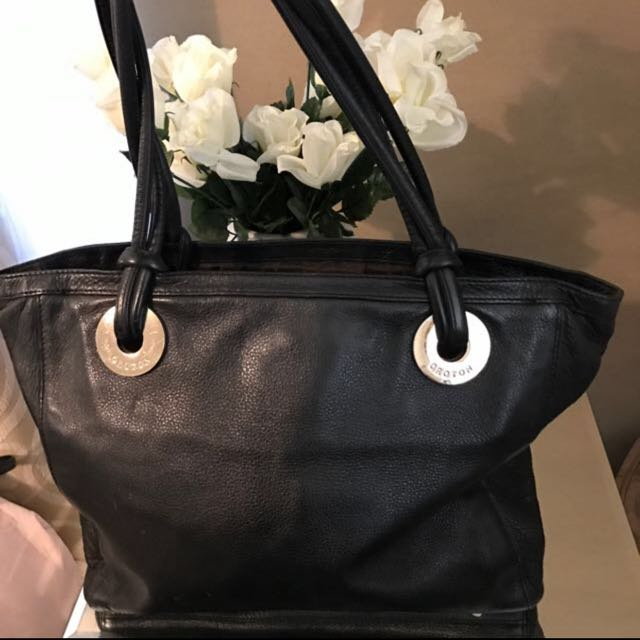 Oroton Black Leather Bag