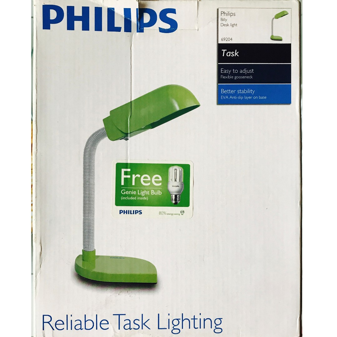Philips Billy Desk Lighting (Free Light Bulb)