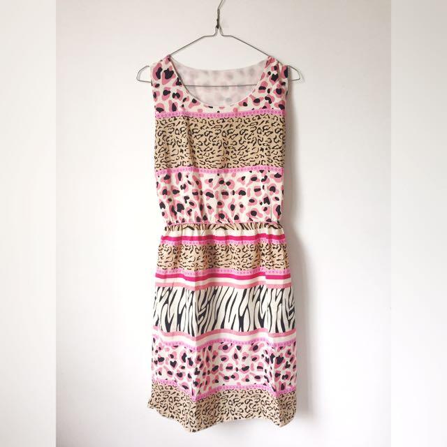 PINKY PATTERN DRESS