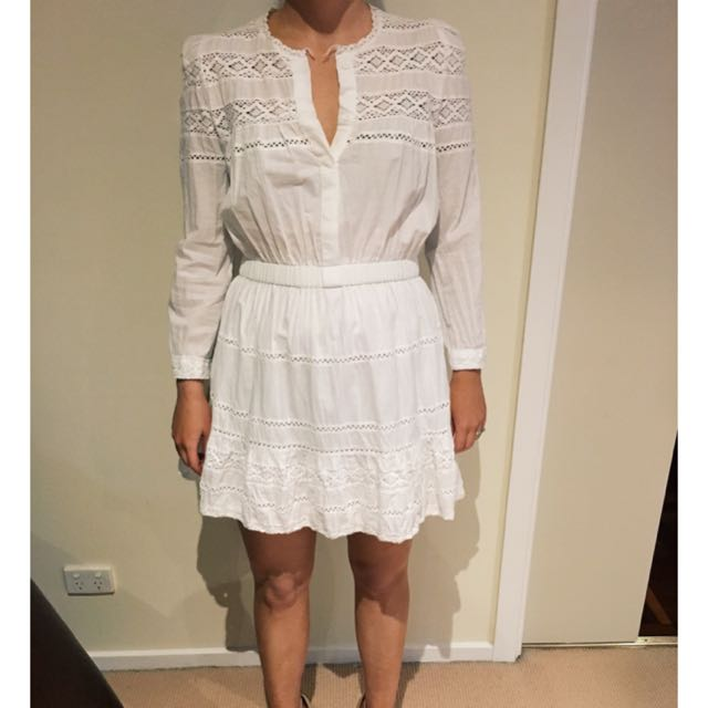 Pinky Size 10 White Dress - Paid $100 Never Worn