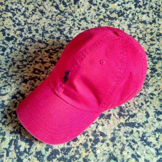 Polo Cap Leather Strips Red
