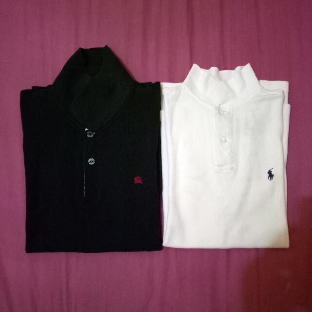 polo shirt polo ralph lauren & burberry london (it seems not like lacoste, gap, uniqlo,dll)