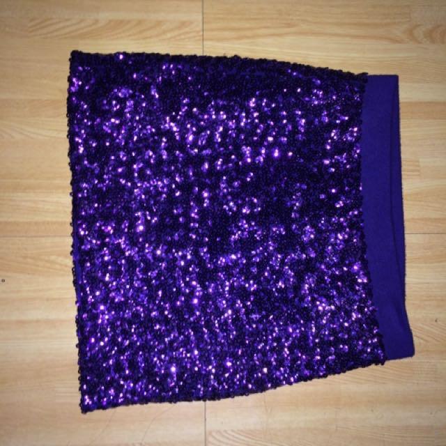 Preloved Kid's Glittery Skirt Forever21