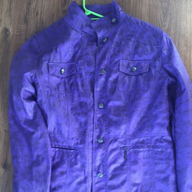 Purple Leatherette Jacket