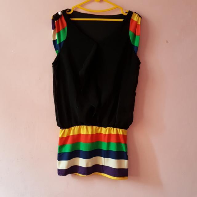 Rainbow Dress Fit L