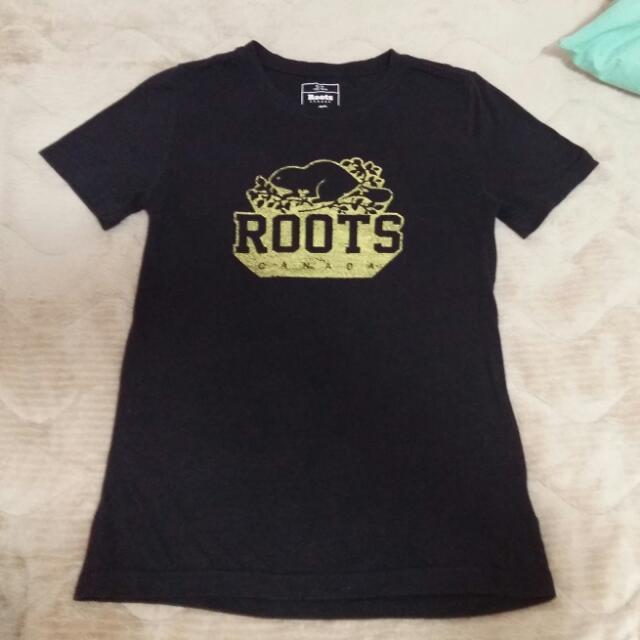 roots 黑底黃色爆裂紋