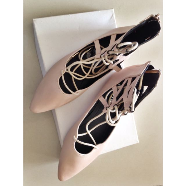 ‼️ REDUCED ‼️ RUBI: Lace-Up Pointed Flat Shoes