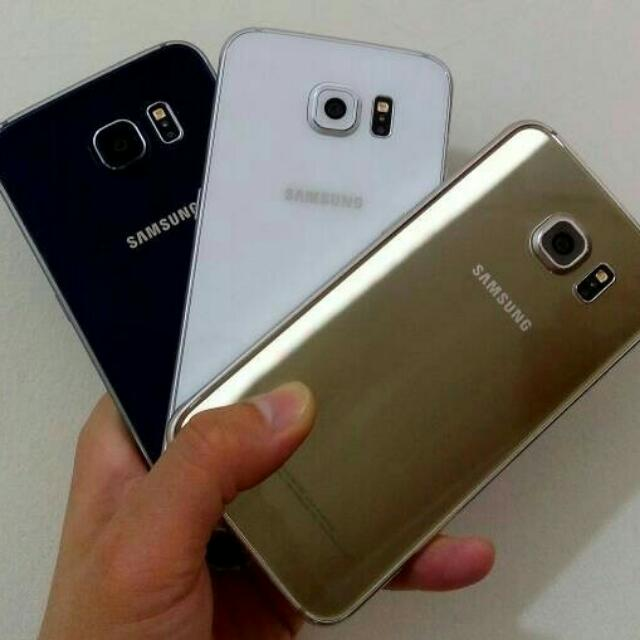 Samsung Galaxy S6 Flat 32 GB Fullset - Mulus Like New