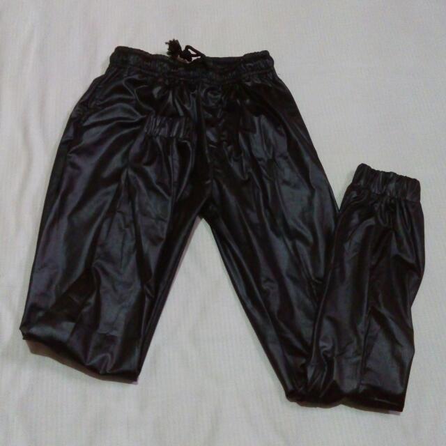 Semi Leather Jogger Pants