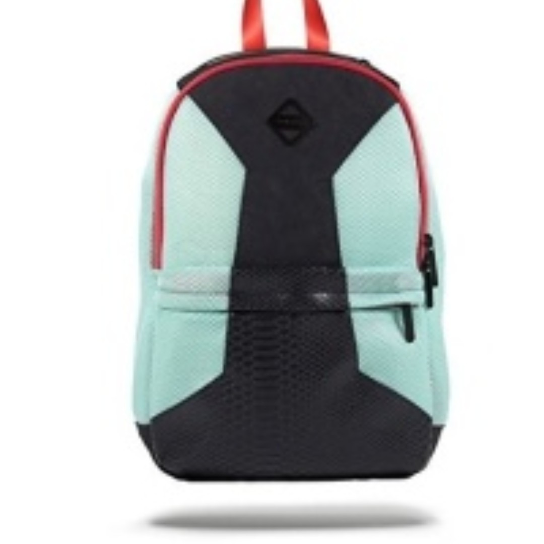 Sprayground Black Retro Future Cut Sew Deluxe Backpack, Black/Seafoam