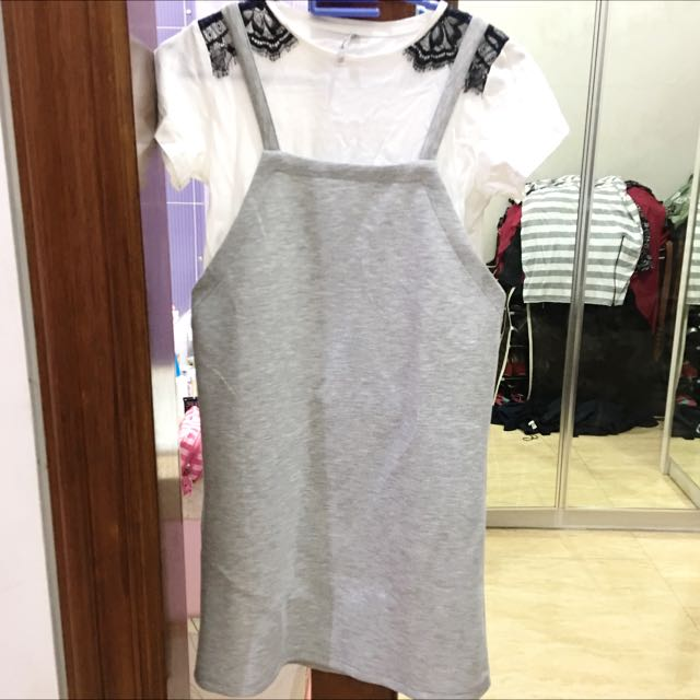 Stradivarius Overall Dress (ukuran Xs)