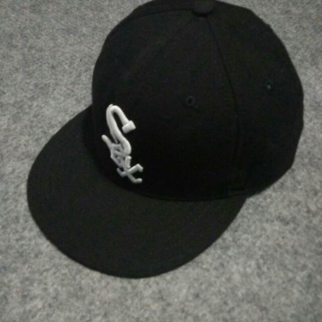 topi baseball new era white sox original made in USA size 7 3/8 (58.7cm) M-L