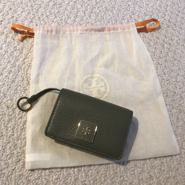 "Tory Burch Model ""Clara"" Soft Leather Card Case"