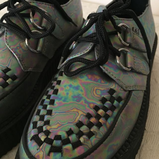 TUK Oil Slick Creepers Size 8