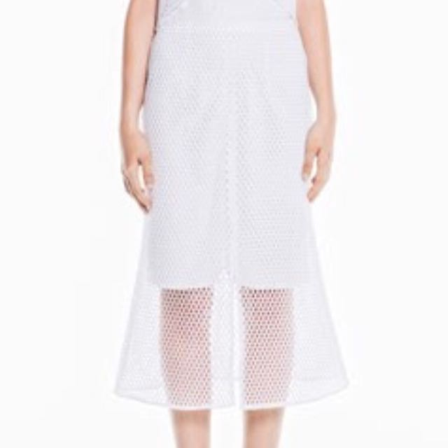 Veronika Maine Net Midi Skirt