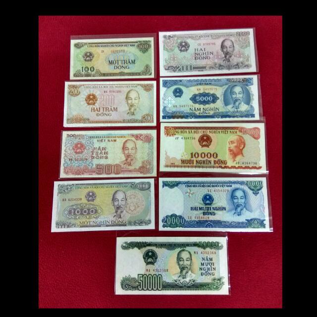 Vietnam Currency Set - 9 Pieces, Vintage & Collectibles