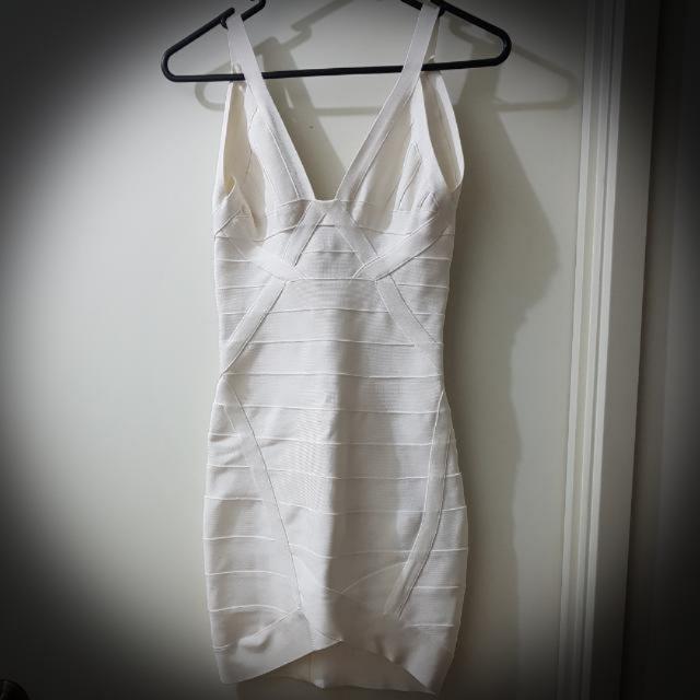 Rare White Bandage Dress Herve Ledger Inspired