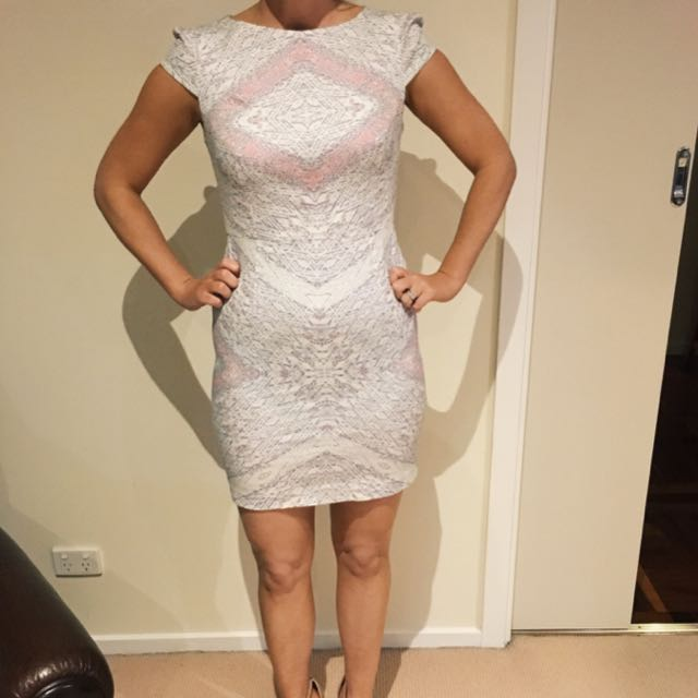White Suede Size 10 Dress - Paid $280