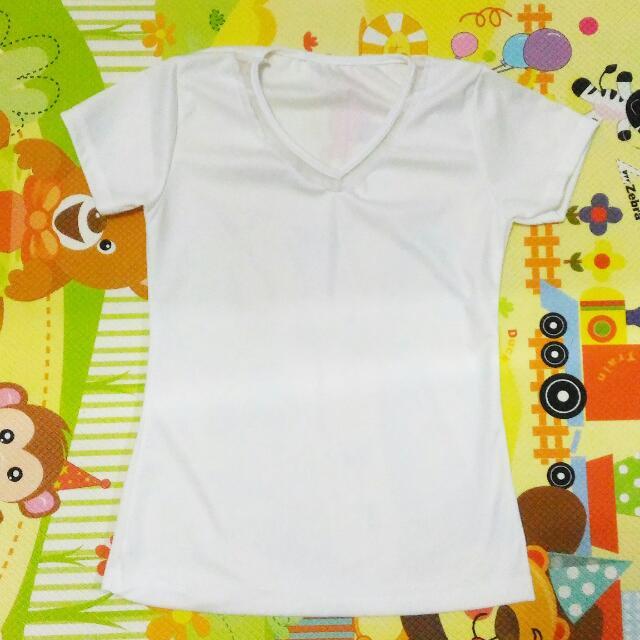 White Vneck Baju Putih