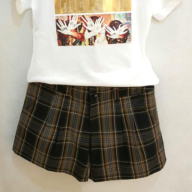XING專櫃品牌 格紋短褲