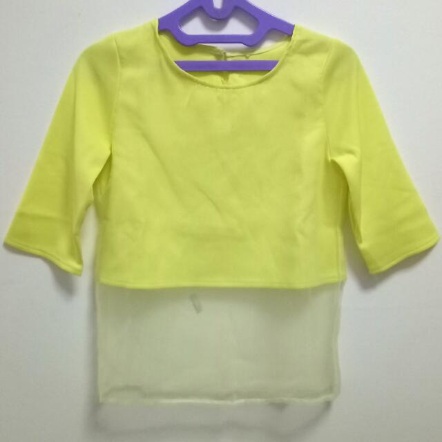 Yellow Sheer Top