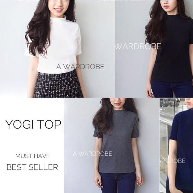 yogi top in white