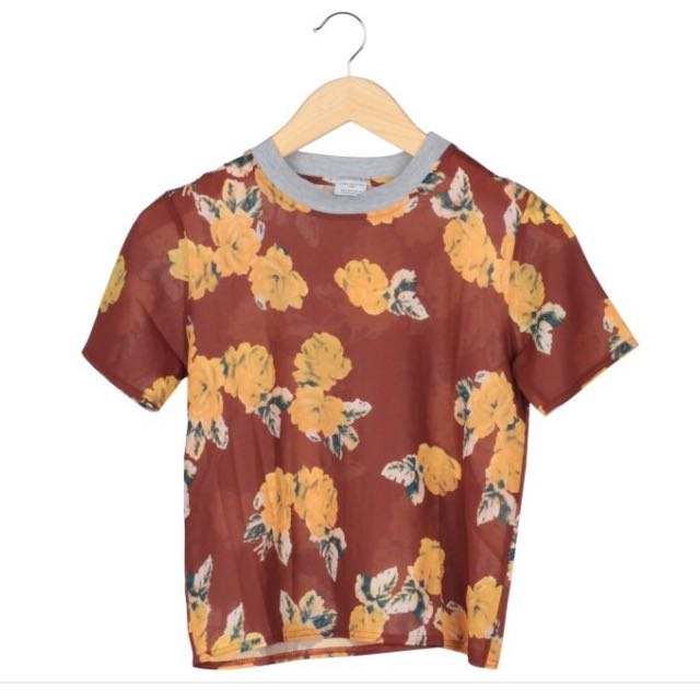 Zara Floral Patterned Top