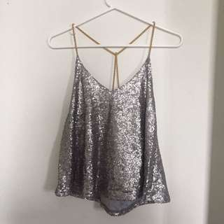 Chain And Sequin Top