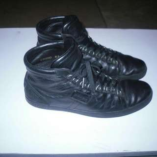 DOLCE AND GABBANA LEATHER HI TOP SNEAKERS - SIZE 8.5 - 9/10 CONDITION - $500 OBO