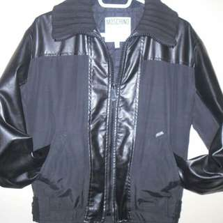 MOSCHINO LEATHER JACKET SIZE SMALL - $60 - 9.5/10 CONDITION