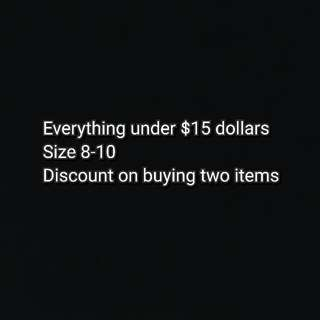 Size 8-10 clothes