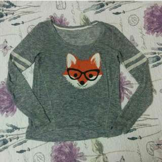 fox long sleeved shirt from Bethany Mota collection Aeropostale