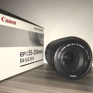 Canon EF-S 55-250mm f/4-5.6 IS ii Zoom Lens