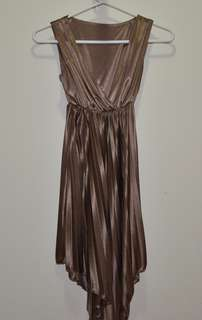 Bronze Silk-Like Dress