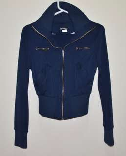 Light Cotton Navy Jacket