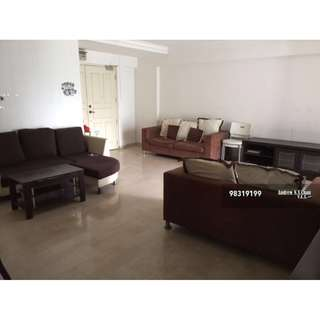 3+1 Blk 962 Hougang 5A Huge unit Full Furnished 3 Aircond $2k