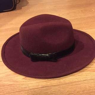 Maroon Panama Hat
