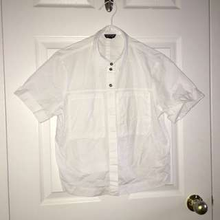 Topshop Button Up Short Sleeve Shirt