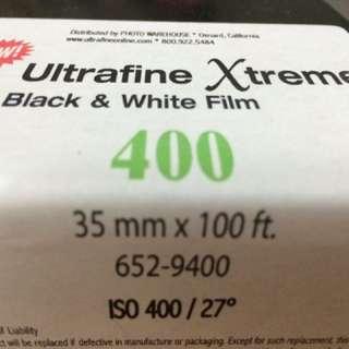 Bulk 35mm B&W Film: Ultrafine Extreme 400 (35mm X 100ft)
