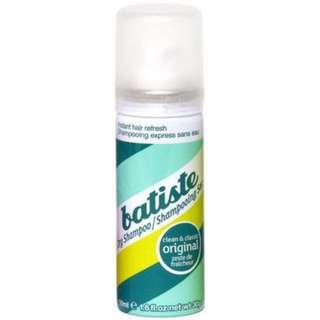 Batiste 秀髮乾洗噴劑 乾洗髮 噴霧 50ml原味