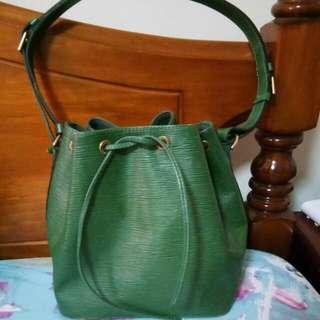 Louis Vuitton Epi Noe Bag Green Authentic Preowned