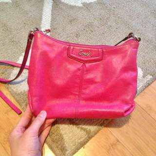 Coach pink crossbody purse