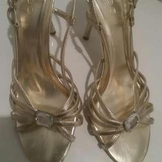 Aldo Brand Gold Strappy Sandals
