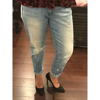 Target Paint Splattered Boyfriend Jeans (Size 10)